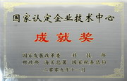 """公司荣获""""国家认定企业技术中心成就奖""""称号(2009年)"""