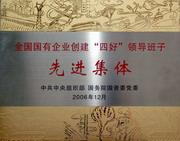 """公司荣获""""全国国有企业创建四好领导班子先进集体""""称号(2006年)"""
