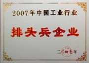 """公司荣获""""中国工业行业排头兵企业""""称号(2007年)"""